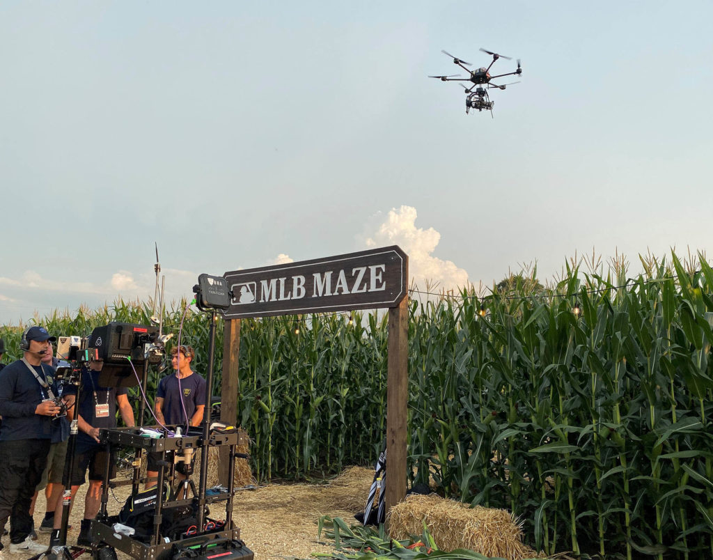 FOX Sports MLB at Field of Dreams broadcast delivers cinematic viewer experience with HDR 5G live drone shots